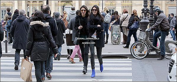 .                                                                                                                 01/03/2014 : Après avoir loué la Smart et fait un tour dans Paris Kendall a été vue au musée du Louvre.                      .