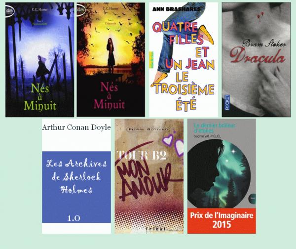 Bilan de lecture - Novembre 2015