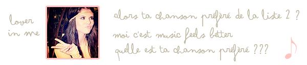 Stars Dance l'album ( 2 ème partie )
