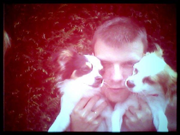 mon chery et mes 2 chien