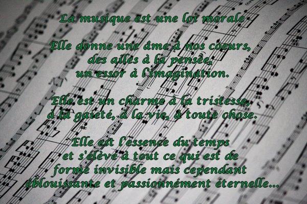 Poème sur la musique.