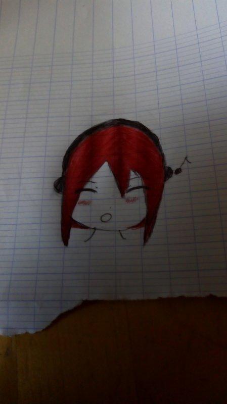 Voilà un dessin fait en classe parce que j'ai que ça a faite de ma vie