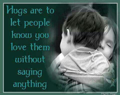 Hugs are...