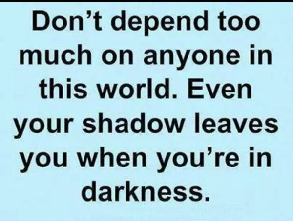 Dont depend too much...