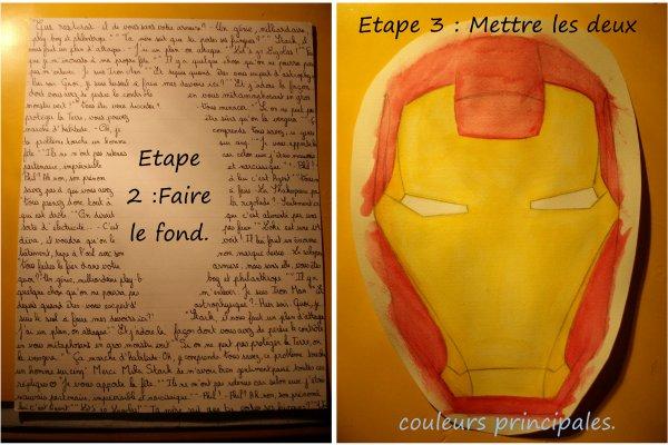 Dessin Masque Iron Man.