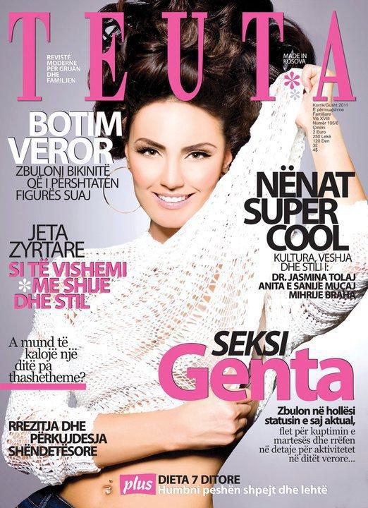 Genta Ismajli - Ballina e Revistes ''TEUTA''