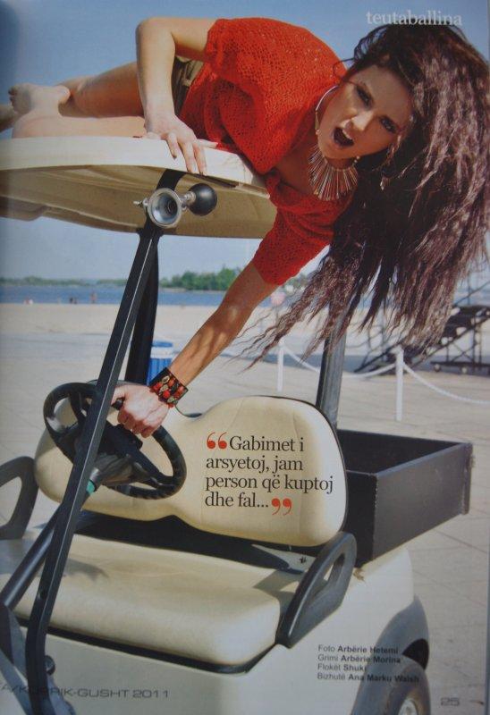 """Genta Ismajli - Revista """"Teuta"""" Korrik/Gusht 2011"""
