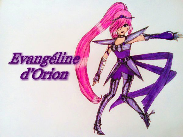 Mon personnage Evangéline d'Orion