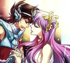 Belle image de Saori et Seiya