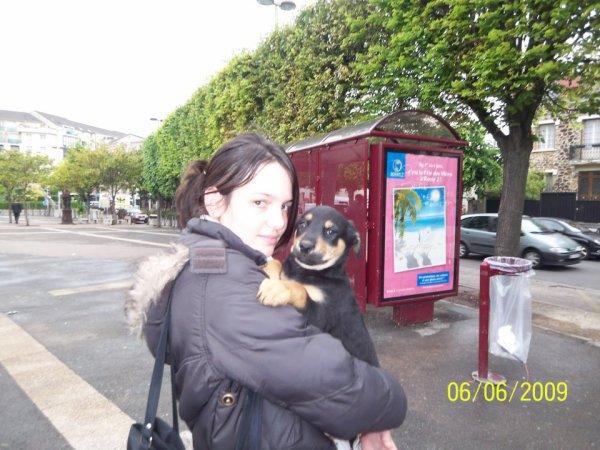 jenifer et son ptit chien