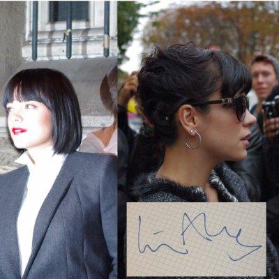 Lily Allen - Défilé Givenchy - le 3 octobre 2010 - Défilé Chanl - le 5 octobre 2010