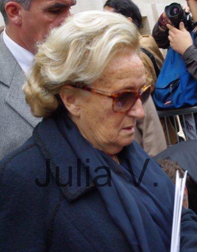 Bernadette Chirac - Défilé Chanel - le 5 octobre 2010