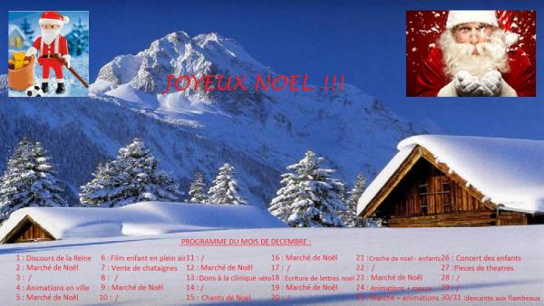 § Programme du mois de décembre §