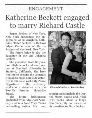 Saison 5, Rick et Kate vont-il se marier ?