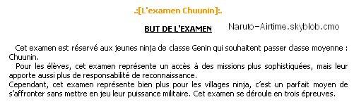 L'examen des Chunin