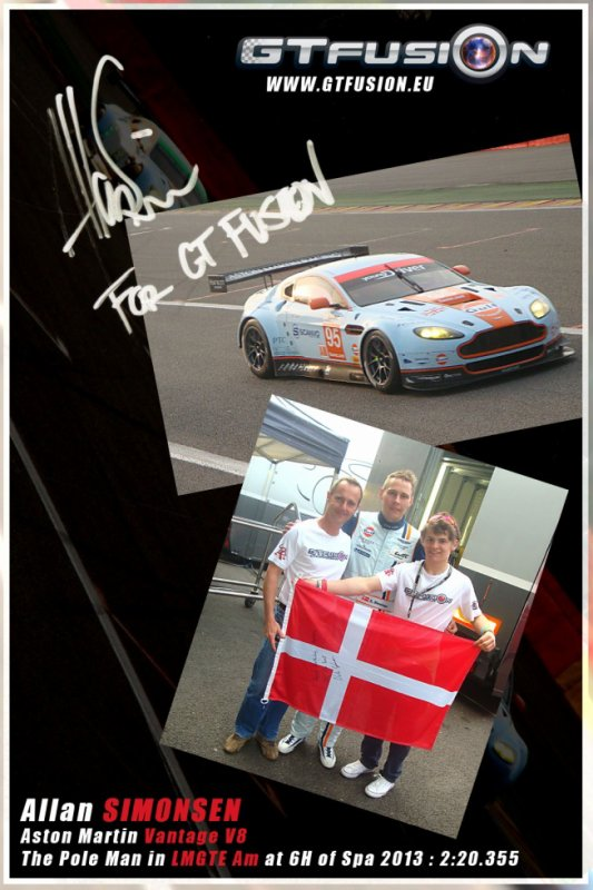 Allan Simonsen the Pole men of 6 H of Spa 2013