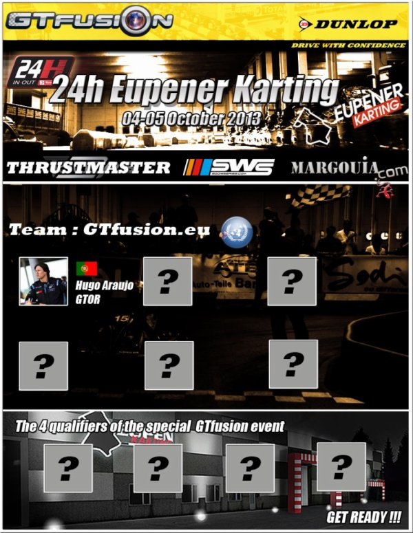 GTfusion.eu United Nation are IN for 24 H of Eupener Karting 2013