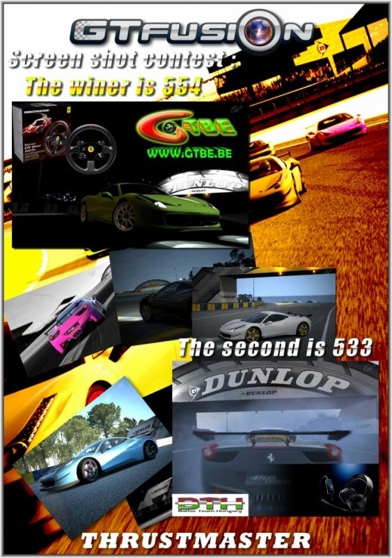 GTfusion Thrustsmaster Dunlop Screenshot contest