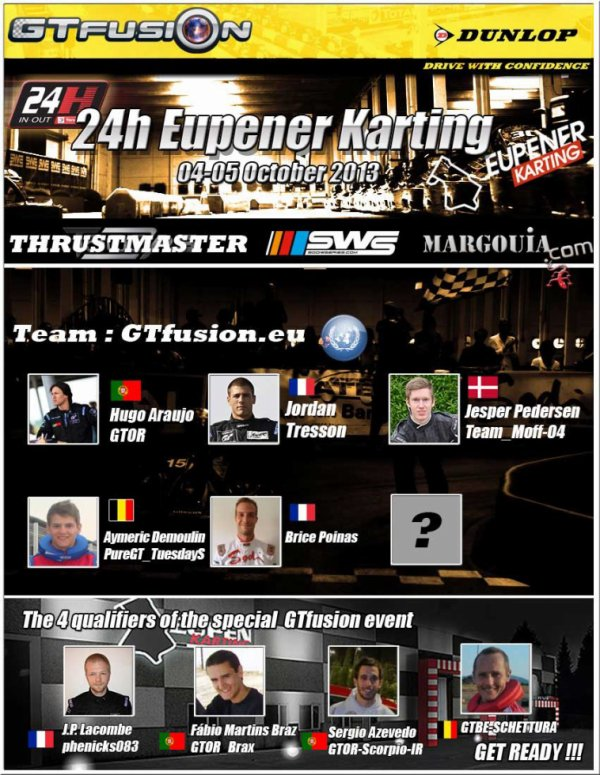 GTfusion.eu Team For 24H Eupener Karting