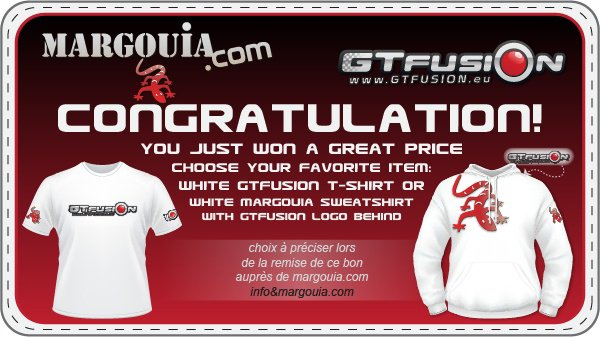 GTfusion draw contest Margouia.com