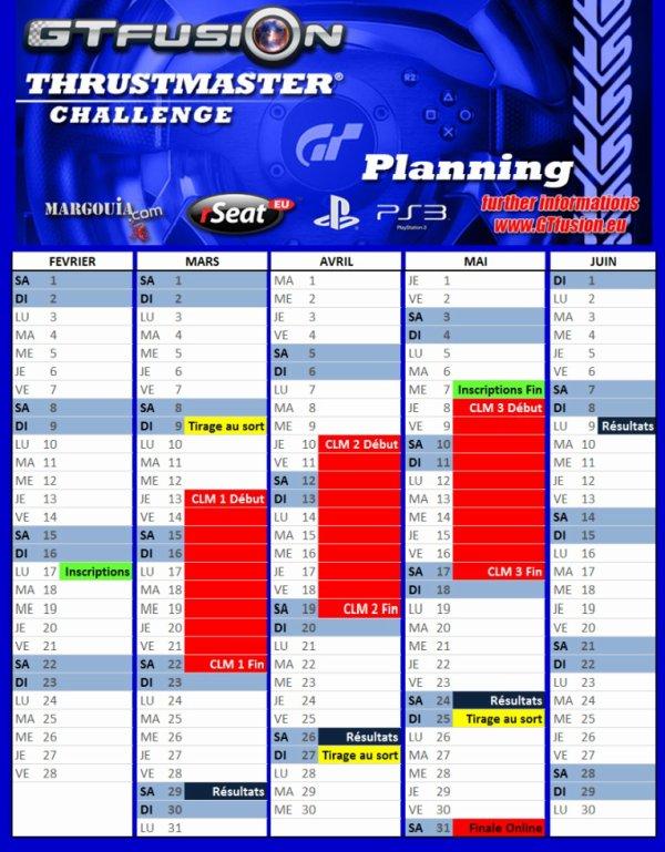 Thrustmaster Challenge 2014 Planning