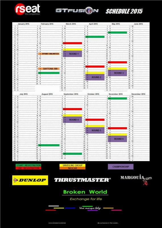 GTfusion Calendar 2015 Gran Turismo Online Championship
