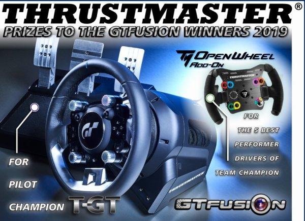 GTfusion Thrustmaster Prizes 2019