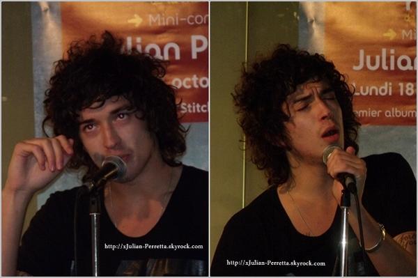 . Le 18/10/10 Julian était en showcase à la Fnac de Lille ! .