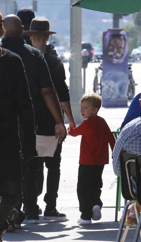 Justin et Jaxon à Hollywood