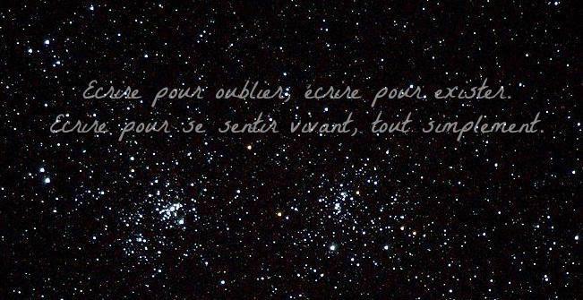 Ecrire pour fuir la réalité ou pour crier ce que l'on ressent ...