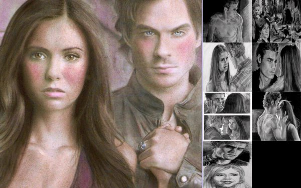 dessin the vampire diaries fait par des fans
