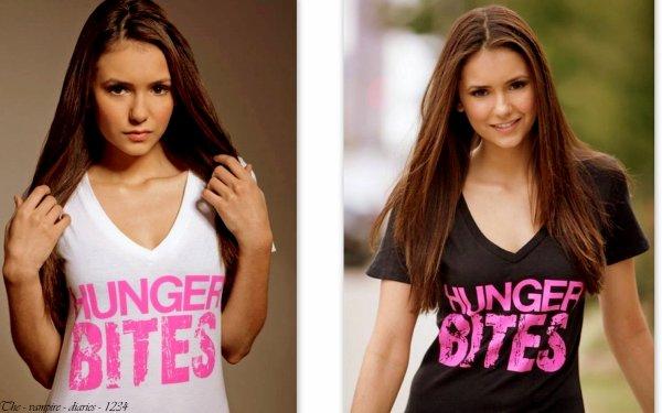 "Nina Dobreve - Photoshoot pour la promotion du T-Shirts ""Hunger Bites""(dessiné par Nina )"