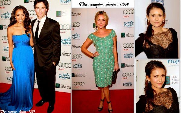 """Nina Dobrev , Ian Somerhalder , Katerina Graham et d' autre membre du caste était present  au  """"The Ripple Effect"""" à Los Angeles"""