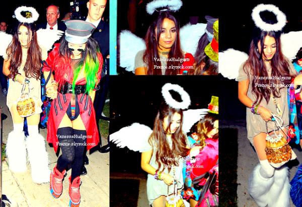 25.10.13 » Vanessa quitte une fête d'Halloween à Beverly Hills.