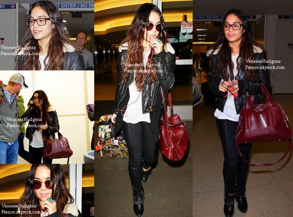 15.11.13 » Vanessa Hudgens a été aperçue à l'aéroport de Los Angeles revenant de New-York. Mais où est Austin ? ... Que pensez-vous de sa tenue ? TOP ou FLOP ?