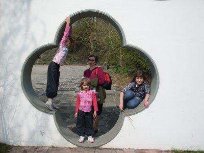 mes trois filles et ma maman
