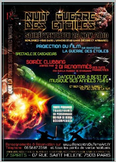 NUIT GUERRE DES ETOILES ET CLUBBING ANNEES 70/80