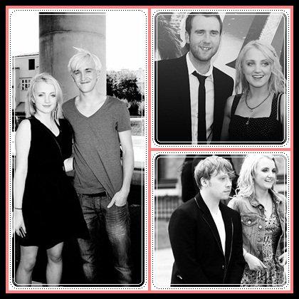 Evanna & Matthew ? Evanna & Tom ? Evanna & Rupert ? ♥