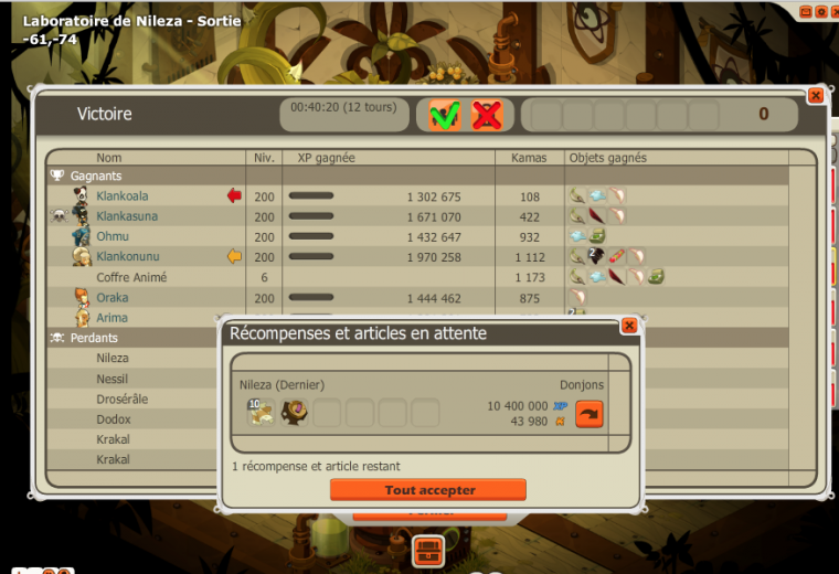 Passages de donjons à la guilde !