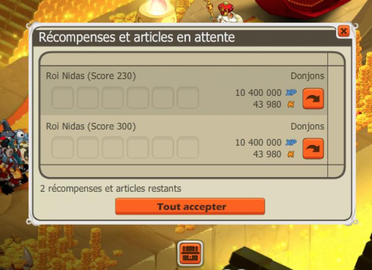 Palais du Roi Nidas - Score 300