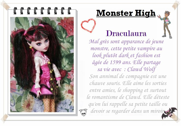 ~ Présentations des Monster High ~