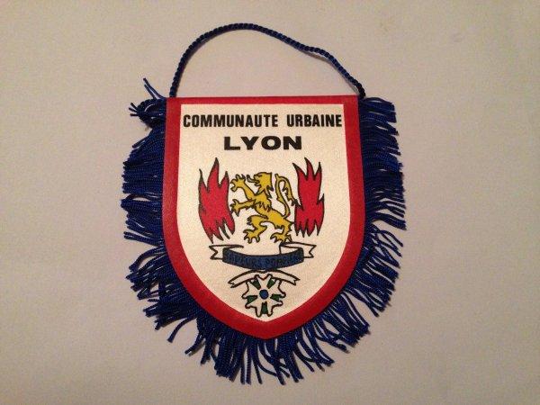 Fanion des Sapeurs-Pompiers de la Communauté Urbaine de Lyon  (Face 2)