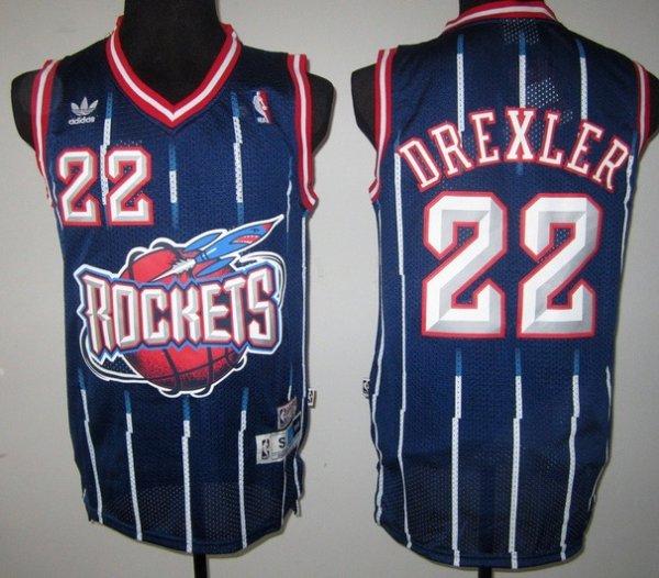2bc77d30bfd Cheap NBA Houston Rockets  22 Clyde Drexler Navy Blue Jersey (repjerseys.ru)