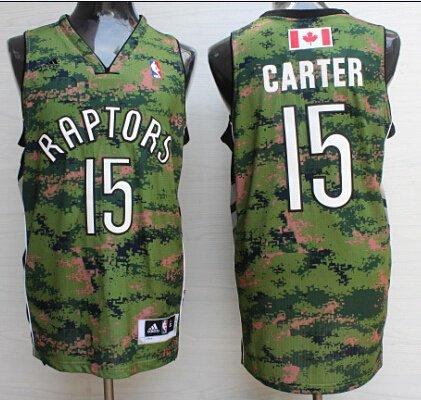 buy popular d7844 cc9fc 2015 Cheap Newest NBA #15 Carter Toronto Raptors Camo jersey ...