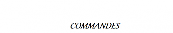 Présentation & Commandes