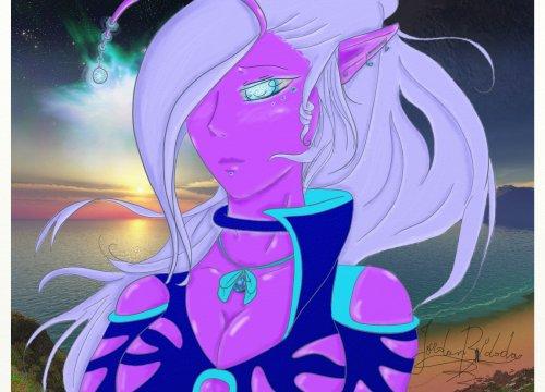 """Alien violette """" très gatée par la nature 0.o  ..."""""""