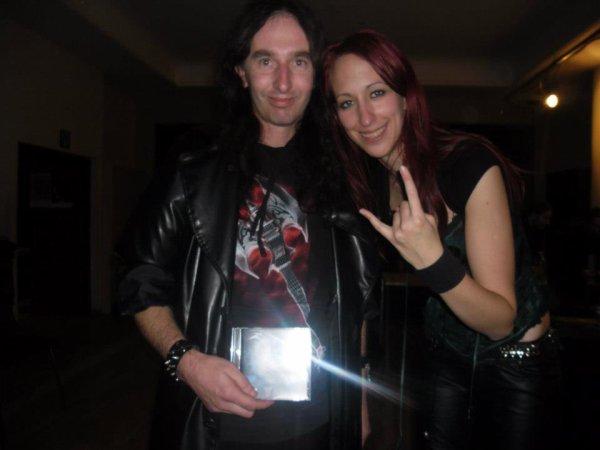 Moi avec Katie Joanne chanteuse du groupe Siren's Cry