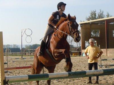 Moi et mezzo en saut d'obstacle ! =)