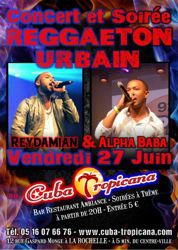 Rey Damian & Alpha Baba  le 27/06/14 en concert a la rochelle