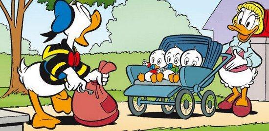 Jumeaux Donald et  Della Duck